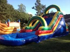 16 Ft Double Wide Water Slide