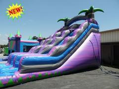 NEW 18' Dual Lane Purple Crush Water Slide