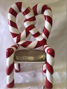 Santa Claus Candy Cane Chair