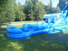 Dual Lane Slip N Slide With Pool