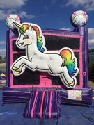 3D Unicorn Bounce House Rental