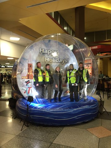 Giant Life Size Human Snow Globe Inflatable Rental From A