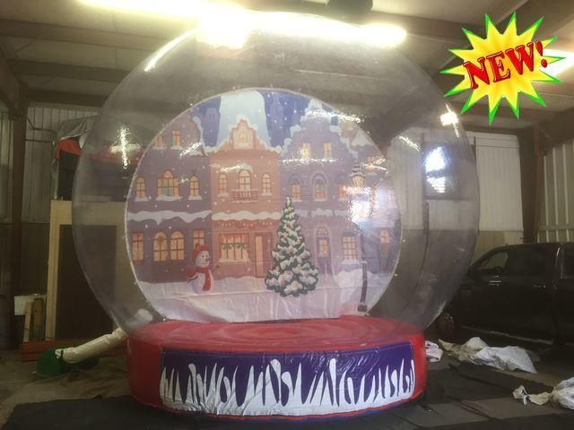 Life-Size Giant Inflatable Novelty Human Snow Globe