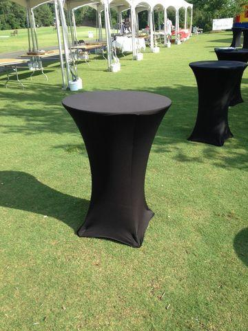 30 inch Cocktail Table Spandex Linen Full Length Cover