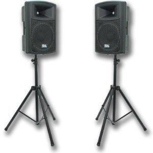 PA System additional speakers & stands