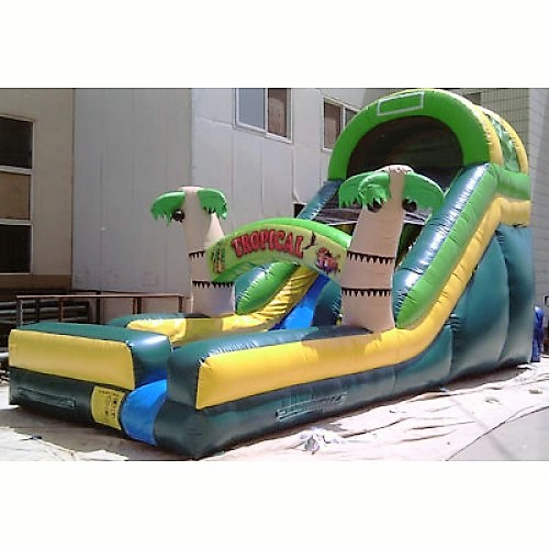 16ft Crazy Tropical Wet Slide Bounce House & Party Rentals
