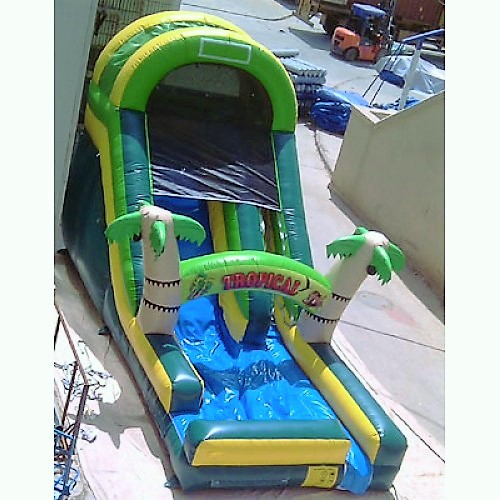 16ft Crazy Tropical Water Slide Bounce House & Party