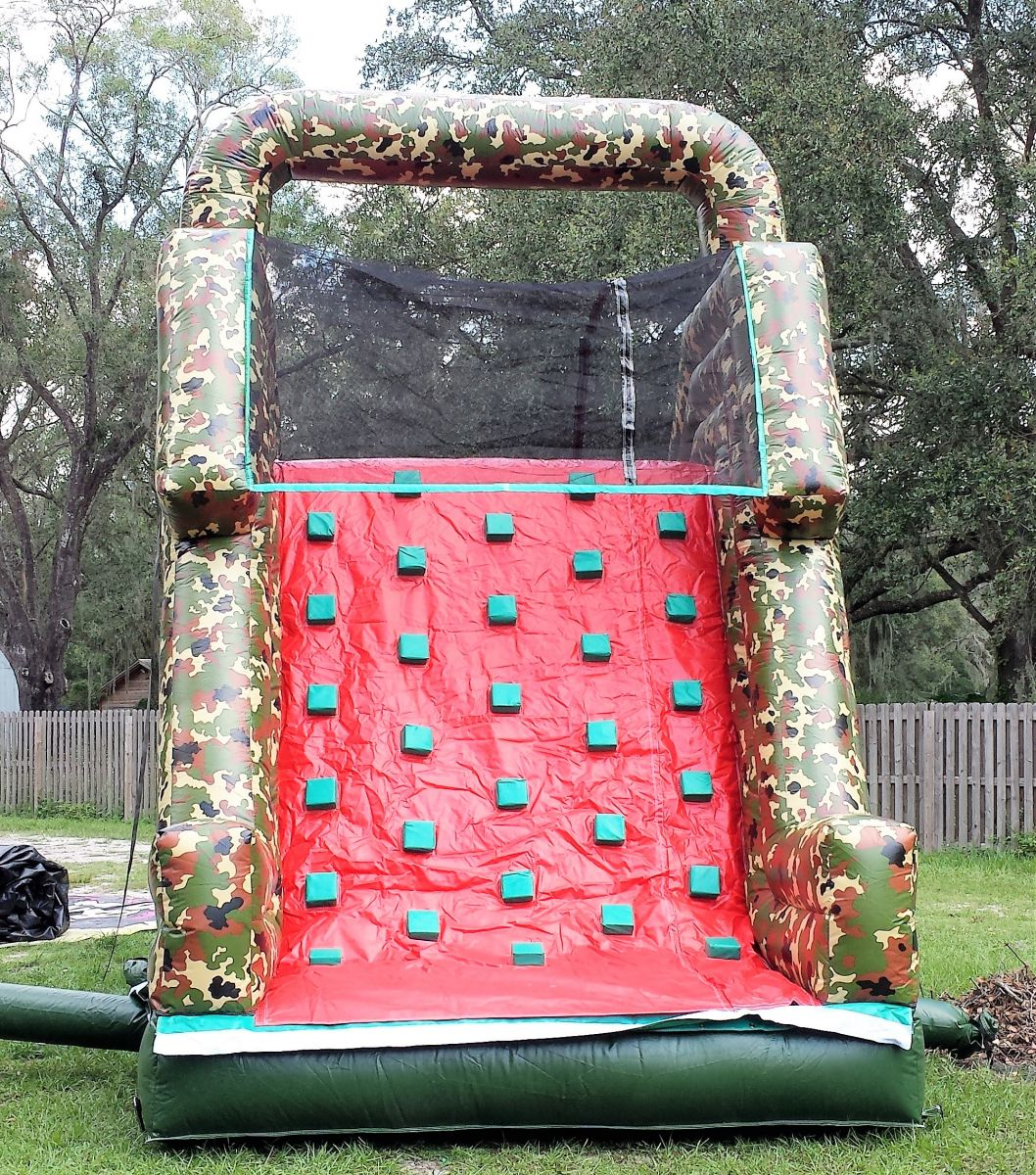 18ft Camo Dry Climbing Slide Bounce House & Party Rentals