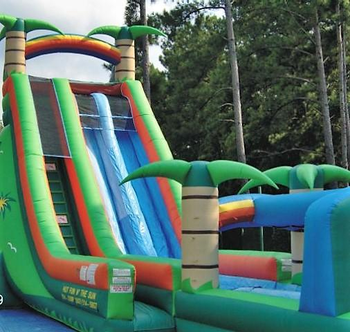 Inflatable Water Slide Tall: 30ft Thunder Bay Water Slide Bounce House & Party Rentals
