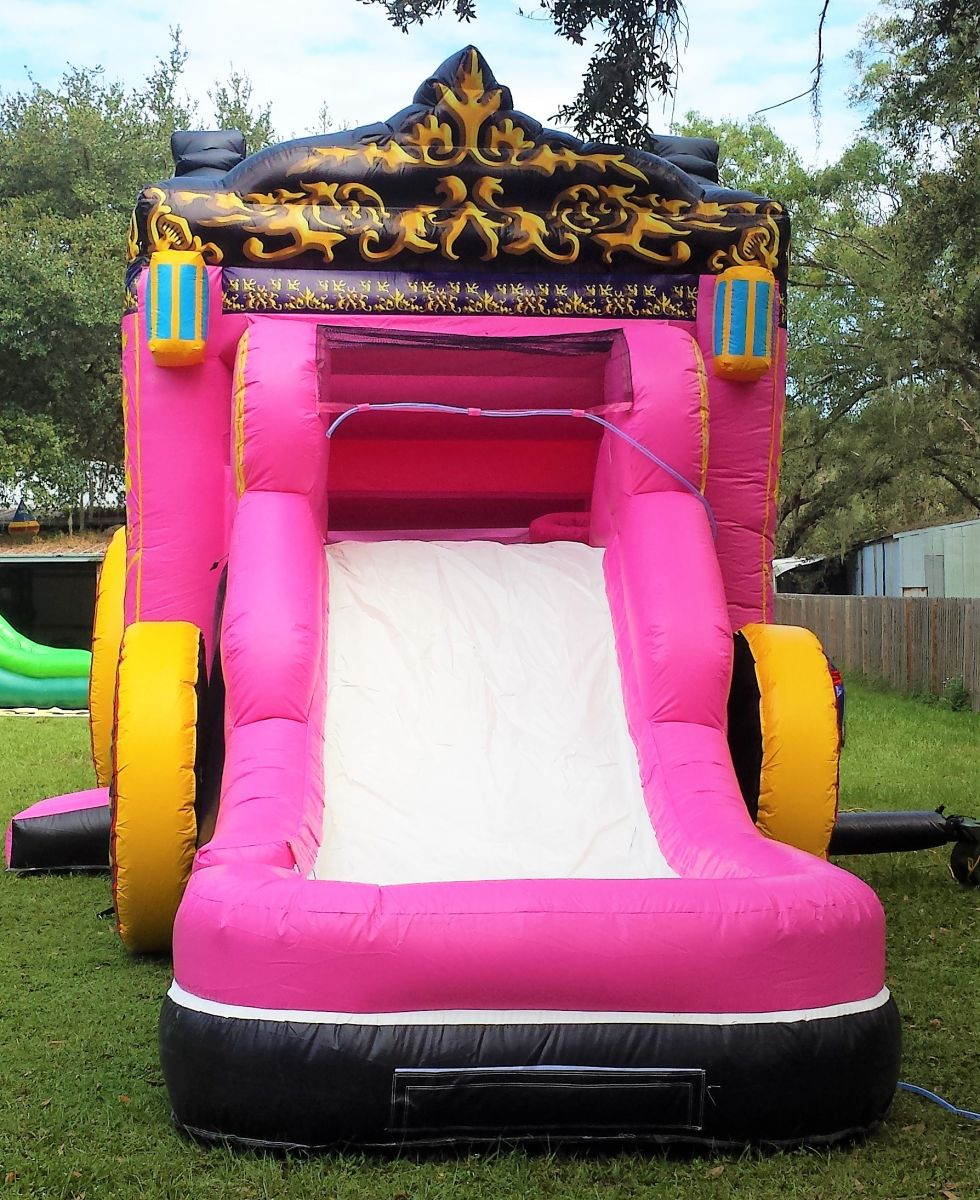 4 In 1 Princess Carriage WATER Combo Bounce House Tampa