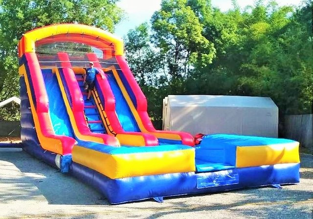 *NEW* 20ft Red Two Lane Drop Zone Water Slide w/ HUGE POOL - UNIT #507 + #606