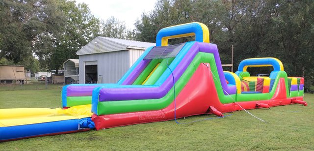 NEW 63ft WET Retro Two Lane Obstacle Course - UNITS #431+432+610