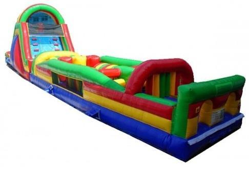66ft WET Assault Two Lane Obstacle Course w/ pool - UNITS #421+536