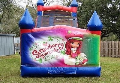 18ft Strawberry Shortcake WET Slide - UNIT #528