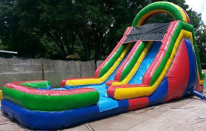 18ft Double Down Two Lane Water Slide - UNIT #536