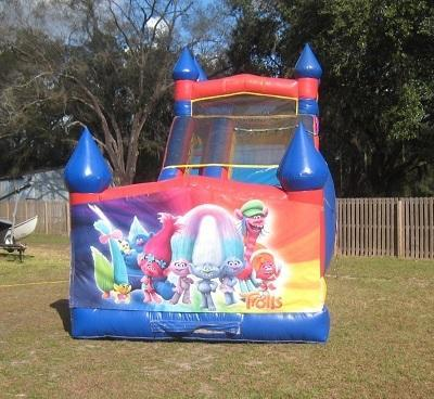 18ft Trolls WET Slide - UNIT #528