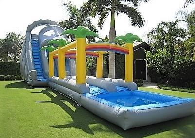 28ft Tall *HUGE* King Kong Two Lane Water Slide - UNITS #510+511