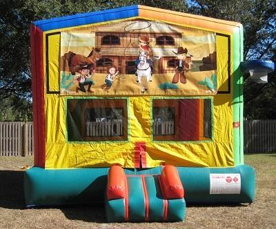 Wild West 2 in 1 Multi-Colored Bounce w/Hoops - UNIT #112