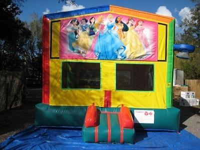 Princess 2 in 1 Multi-Colored Bounce w/Hoops - UNIT #112