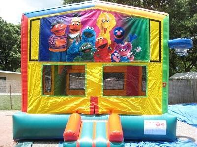 Sesame Street 2 in 1 Multi-Colored Bounce w/Hoops - UNIT #112