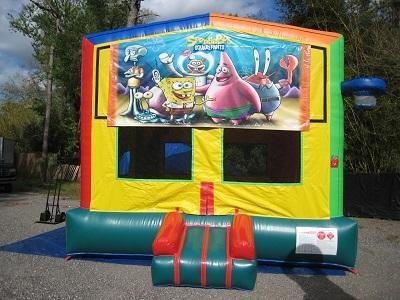 SpongeBob 2 in 1 Multi-Colored Bounce w/Hoops - UNIT #112