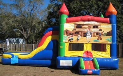 Wild West Multi Colored  5 in 1 Castle WET Combo - UNIT #220