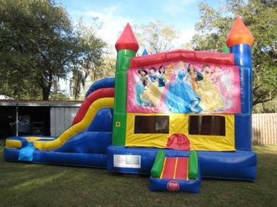 Princess Multi Colored  5 in 1 Castle WET Combo - UNIT #220