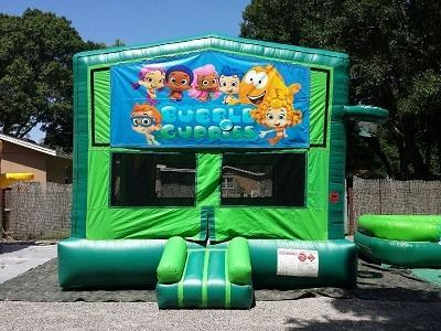 Bubble Guppies 2 in 1 GREEN Bounce w/Hoops - UNIT #113