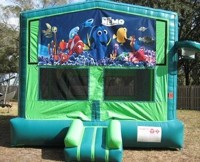 Nemo 2 in 1 GREEN Bounce w/Hoops - UNIT #113