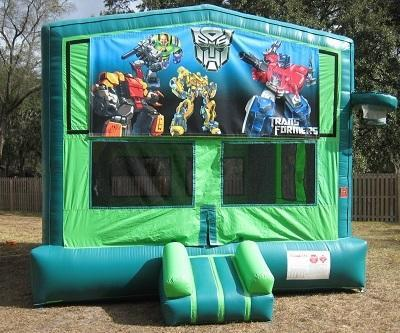 Transformers  2 in 1 GREEN Bounce w/Hoops - UNIT #113