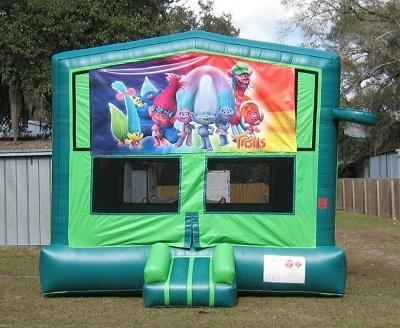 Trolls  2 in 1 GREEN Bounce w/Hoops - UNIT #113
