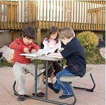 Kids Picnic Tables GREY