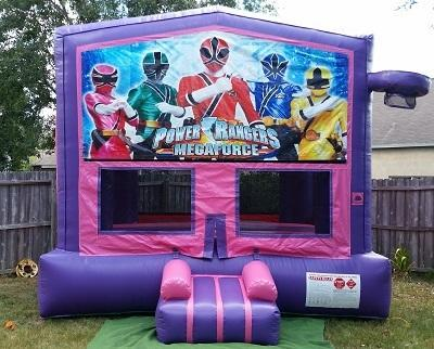 Power Rangers Pink and Purple Bounce w/Hoops UNIT #103
