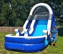 *NEW* 15ft Blue Wave Wet Slide - UNIT #523
