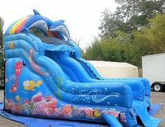 16ft Dolphin and Mermaid Dry Slide - UNIT #534