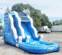 *NEW* 17ft Dolphin Drop FAST Water Slide - UNIT #560