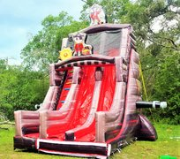 *NEW* 27ft Two Lane Black Pearl Pirate Themed DRY Slide UNIT #558