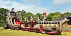 NEW - 27ft Tall *HUGE* Black Pearl Pirate Ship Two Lane Water Slide - UNITS #558+559