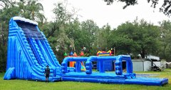 NEW - 30ft Tall *HUGE* Monster Wave Two Lane Water Slide - UNITS #552+553