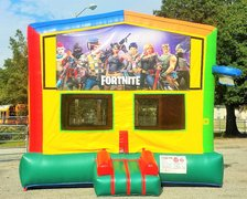 New HOT Theme! Fortnite 2 in 1 Multi-Colored Bounce w/Hoops - UNIT #112