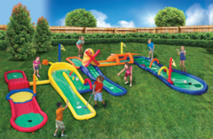 Inflatable 5 Hole Mini Putt Putt Golf Course Adventure