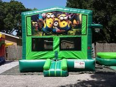 Minions 2 in 1 GREEN Bounce w/Hoops - UNIT #113