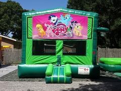 My Little Pony 2 in 1 GREEN Bounce w/Hoops - UNIT #113