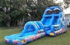 16ft Dolphin and Mermaid Water Slide - UNITS #534+607