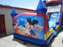 18ft Mickey and Minnie Dry Slide - UNIT #528