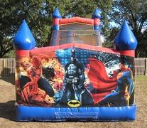 18ft Spiderman Batman  Superman Dry Slide - UNIT #528