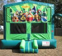 Veggie Tales 2 in 1 GREEN Bounce w/Hoops - UNIT #113