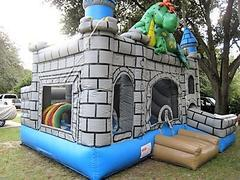 4 in 1 Puff The Dragon DRY Combo Castle - UNIT #210