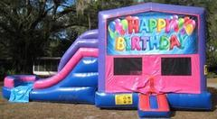 Happy Birthday 4 in 1 Pink and Purple Two Lane DRY Combo - UNIT #216