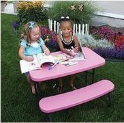 Kids Picnic Tables PINK